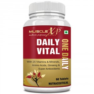 Buy MuscleXP Daily Vital (One Daily) Multi Vitamin - 60 Tablets - Nykaa