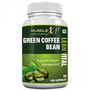 Buy MuscleXP Green Coffee Bean Lean Vital Capsule - Nykaa