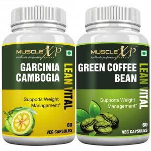Buy MuscleXP Garcinia Cambogia Lean Vital Capsule + Green Coffee Bean Lean Vital Capsule - Nykaa