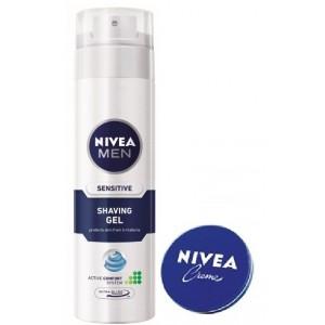 Buy Nivea Men Sensitive Shaving Gel + Free Creme (30ml) - Nykaa