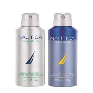 Buy Nautica Classic & Voyage Deodorant Pack Of 2 - Nykaa