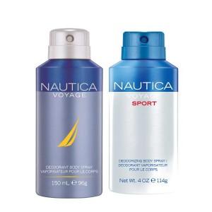 Buy Nautica Voyage & Voyage Sport Deodorant Pack of 2 - Nykaa