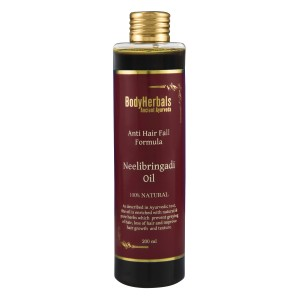 Buy BodyHerbals Ancient Ayurveda Anti Hair Fall Formula Neelibringadi Hair Oil - Nykaa