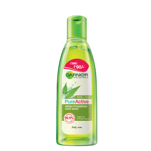 Buy Garnier Pure Active Neem + Tulsi High Foaming Face Wash (Rs. 15 Off) - Nykaa