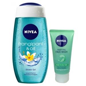 Buy Nivea Frangipani & Oil Shower Gel + Free Purifying Face Wash - Nykaa