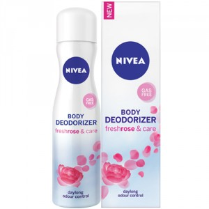 Buy Nivea Body Deodorizer Fresh Rose & Care Spray For Women - Nykaa