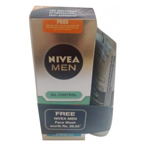 Buy Nivea Men Oil Control Moisturiser + Free All In One Face Wash (50gm) - Nykaa
