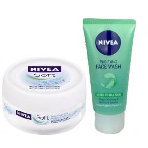 Buy Nivea Soft Cream + Free Purifying Face Wash - Nykaa