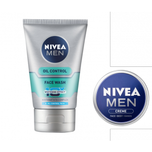 Buy Nivea Men Oil Control Face Wash + Nivea Men Creme Wash Free (30ml) - Nykaa