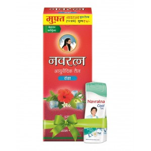 Buy Navratna Ayurvedic Cool Oil With Free Cool Talc Worth Rs.7/- - Nykaa