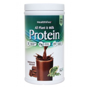Buy HealthViva All Plant & Milk Protein Chocolate - Nykaa