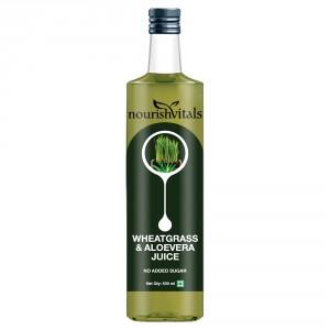 Buy Nourish Vitals WheatGrass With Aloe Vera Juice - Nykaa