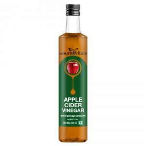 Buy Nourish Vitals Apple Cider Vinegar - With Mother Vinegar - Nykaa