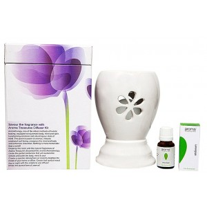 Buy Aroma Treasures Electric Diffuser - White + Lemon Grass Oil - Nykaa