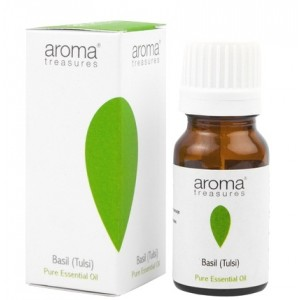 Buy Aroma Treasures Basil (Tulsi) Pure Essential Oil - Nykaa