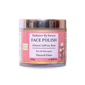 Buy AuraVedic Radiance by Nature Face Polish - Rose Almond with Saffron Scrub - Nykaa