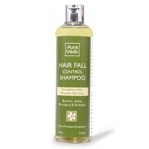 Buy AuraVedic Hair Fall Control Shampoo with Brahmi Amla Bhringraj Shikakai - Nykaa
