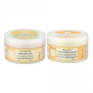 Buy Auravedic Skin Lightening Mask + Sandal Polish - Nykaa