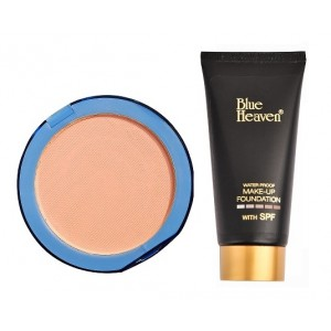 Buy Blue Heaven Silk On Face Compact - Blush & Tube Foundation Natural Combo - Nykaa