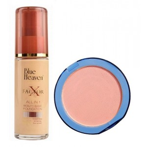 Buy Blue Heaven X Factor Foundation-Natural &  Silk On Face Compact Skin Combo - Nykaa