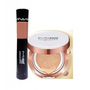 Buy MIB Silky Touch BB Cushion SPF 30 - No. 3 + USA 2 In 1 Matte Lipstick & Lip Gloss - Beige - Nykaa