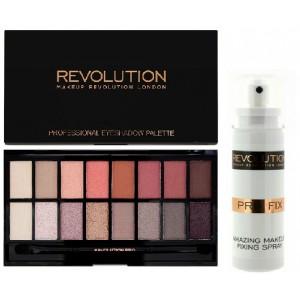 Buy Makeup Revolution Pro Fix Makeup Fixing Spray + Salvation Palette New -Trals vs Neutrals - Nykaa