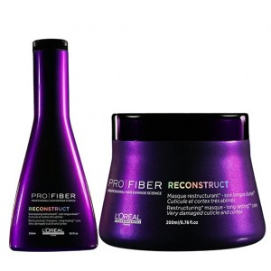 Buy Herbal L'Oreal Professionnel Pro Fiber Reconstruct Shampoo & Masque - Nykaa