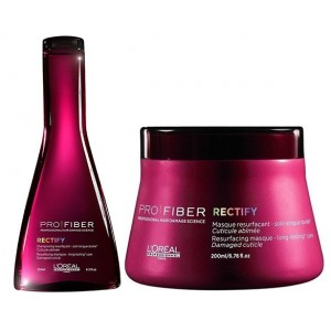 Buy L'Oreal Professionnel Pro Fiber Rectify Shampoo & Masque - Nykaa