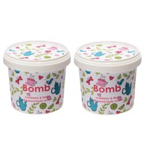 Buy Bomb Cosmetics Cranberry & Lime Shower Scrub Combo (Buy 1 Get 1 Free) - Nykaa