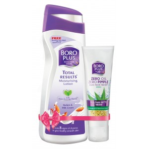 Buy Boroplus Total Results Moisturising Lotion - Badam & Milk Cream + Free Boroplus Duo face Wash - Nykaa
