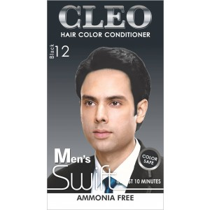 Buy Cleo Hair Color Conditioner for Men Swift  - Black 12 - Nykaa
