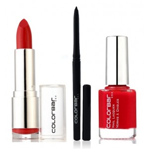 Buy Colorbar Velvet Matte Lipstick -Peach Crush + Kohl Intense Kajal + Free Nail Enamel Exclusive - Bloody Mary  - Nykaa