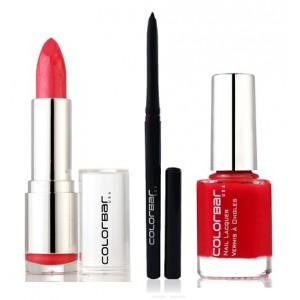 Buy Colorbar Velvet Matte Lipstick - Secretly Pink + Kohl Intense Kajal + Free Nail Enamel Exclusive - Bloody Mary  - Nykaa