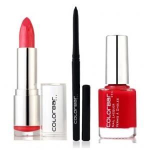 Buy Colorbar Velvet Matte Lipstick - SHY CHERRY + Kohl Intense Kajal + Free Nail Enamel Exclusive - Bloody Mary  - Nykaa