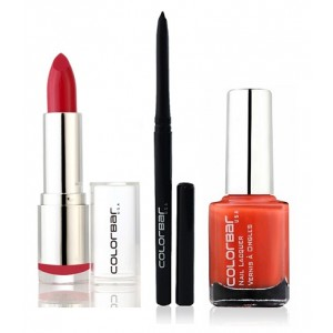 Buy Colorbar Velvet Matte Lipstick - FUSHIA FIX + Kohl Intense Kajal + Free Nail Enamel Exclusive -  Orange Pop - Nykaa