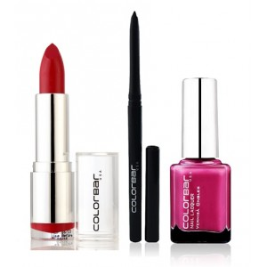 Buy Colorbar Velvet Matte Lipstick - VALL FIRED UP + Kohl Intense Kajal + Free Nail Enamel Exclusive - Fruit Punch - Nykaa