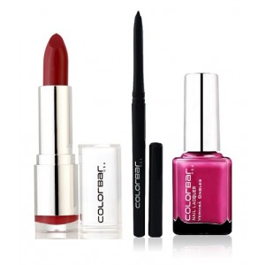 Buy Colorbar Velvet Matte Lipstick - RUM RAISIN + Kohl Intense Kajal + Free Nail Enamel Exclusive - Fruit Punch - Nykaa