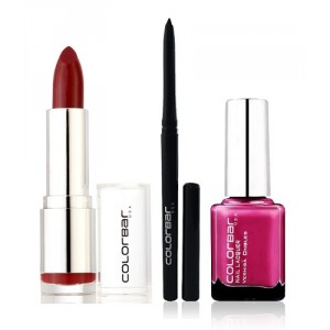 Buy Colorbar Velvet Matte Lipstick - Luv Me + Kohl Intense Kajal + Free Nail Enamel Exclusive - Fruit Punch - Nykaa