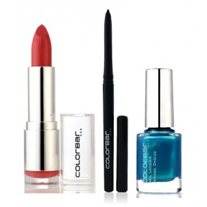 Buy Herbal Colorbar Velvet Matte Lipstick - THRILLING PINK + Kohl Intense Kajal + Free Nail Enamel Exclusive - Peacock Blue - Nykaa