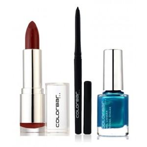 Buy Colorbar Velvet Matte Lipstick - PURE INNOCENCE + Kohl Intense Kajal + Free Nail Enamel Exclusive - Peacock Blue - Nykaa