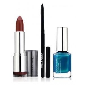 Buy Colorbar Velvet Matte Lipstick - Creme Cup + Kohl Intense Kajal + Free Nail Enamel Exclusive - Peacock Blue - Nykaa