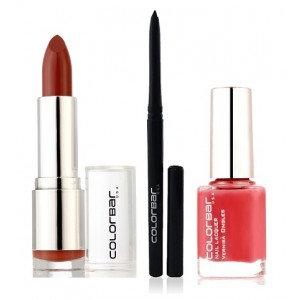 Buy Colorbar Velvet Matte Lipstick - High Tea + Kohl Intense Kajal + Free Nail Enamel Exclusive - Autumn Rose - Nykaa