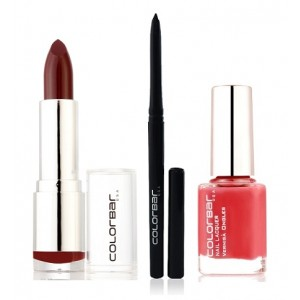 Buy Colorbar Velvet Matte Lipstick - Passion + Kohl Intense Kajal + Free Nail Enamel Exclusive - Autumn Rose - Nykaa