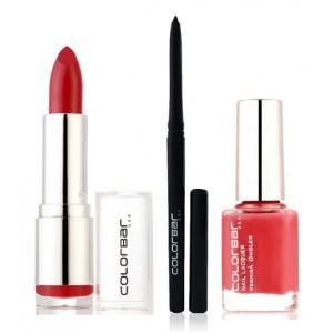 Buy Colorbar Velvet Matte Lipstick - Hearts & Tarts + Kohl Intense Kajal + Free Nail Enamel Exclusive - Autumn Rose - Nykaa
