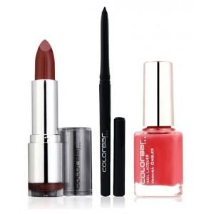 Buy Colorbar Velvet Matte Lipstick - Creme Cup + Kohl Intense Kajal + Free Nail Enamel Exclusive - Autumn Rose - Nykaa