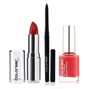 Buy Colorbar Velvet Matte Lipstick - Diva + Kohl Intense Kajal + Free Nail Enamel Exclusive - Autumn Rose - Nykaa