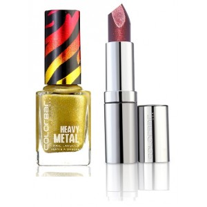 Buy Colorbar Diamond Shine Lipstick -Expensive Garnet & Metal Nail Laquer- Chrome Sapphire Combo - Nykaa