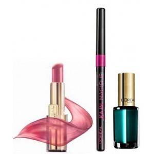 Buy L'Oreal Paris Rouge Caresse Lipstick 102 Mauve Cherie + Kajal Magique + Free 310 L'amour - Nykaa