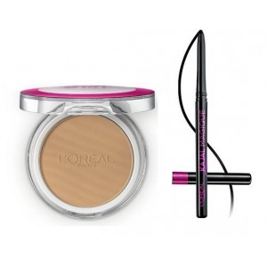 Buy L'Oreal Paris Mat Magique All-In-One Pressed Powder N6 Nude Honey + Kajal Magique - Nykaa