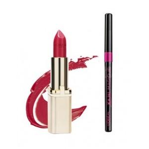 Buy L'Oreal Paris Color Riche Matte Lipstick - 375 Deep Raspberry + Free Kajal Magique  - Nykaa